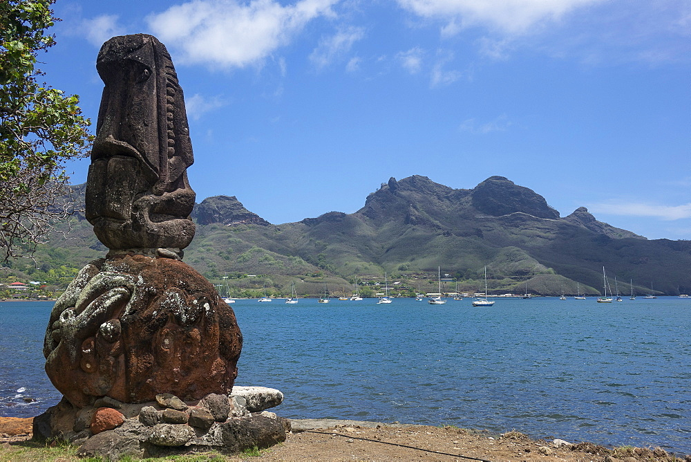 Taioha'e waterfront, Nuku Hiva, Marquesas island, French Polynesia, South Pacific, Pacific