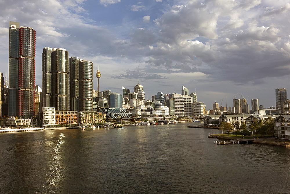 View towards Barangaroo and Darling Harbour, Sydney, New South Wales, Australia, Pacific