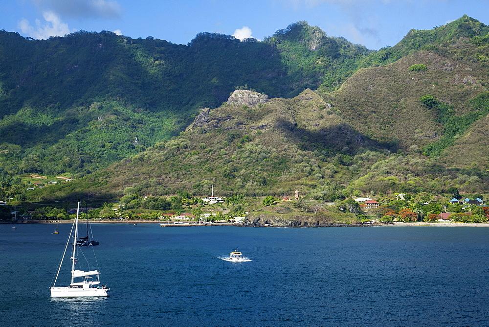 Taioha'e bay, Nuku Hiva, Marquesas islands, French Polynesia - 306-4482