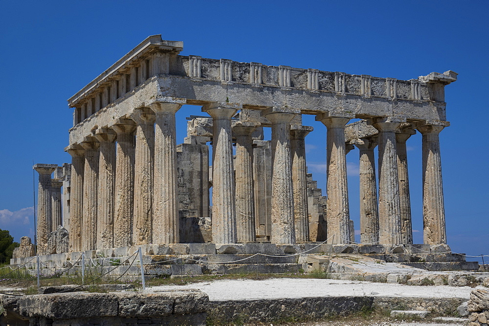 Afea Temple, Aegina, Saronic Islands, Greek Islands, Greece, Europe