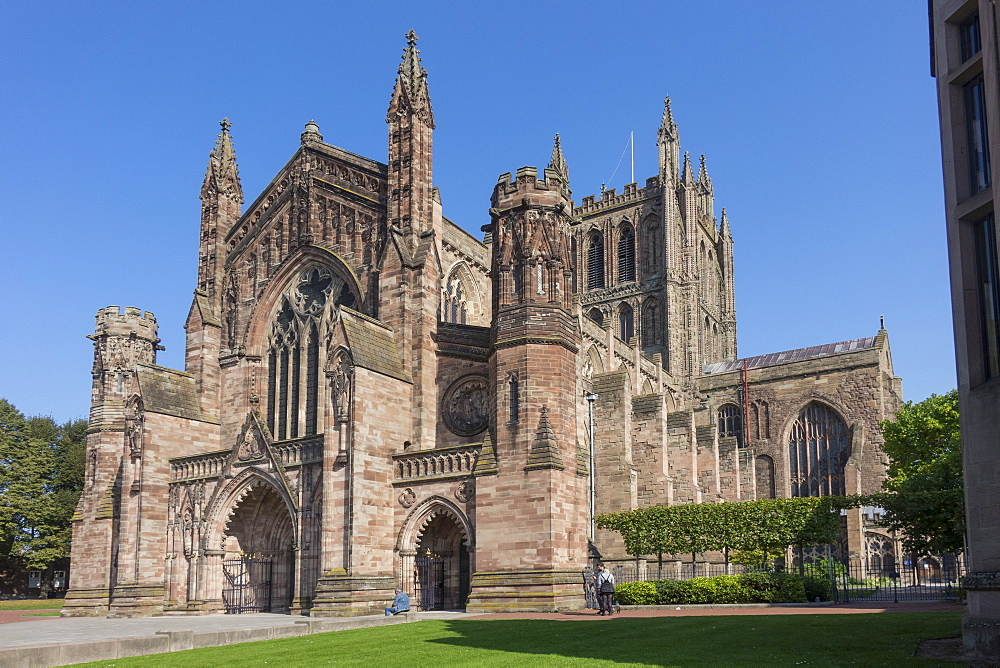 Cathedral, Hereford, Herefordshire, England, United Kingdom, Europe - 306-4501