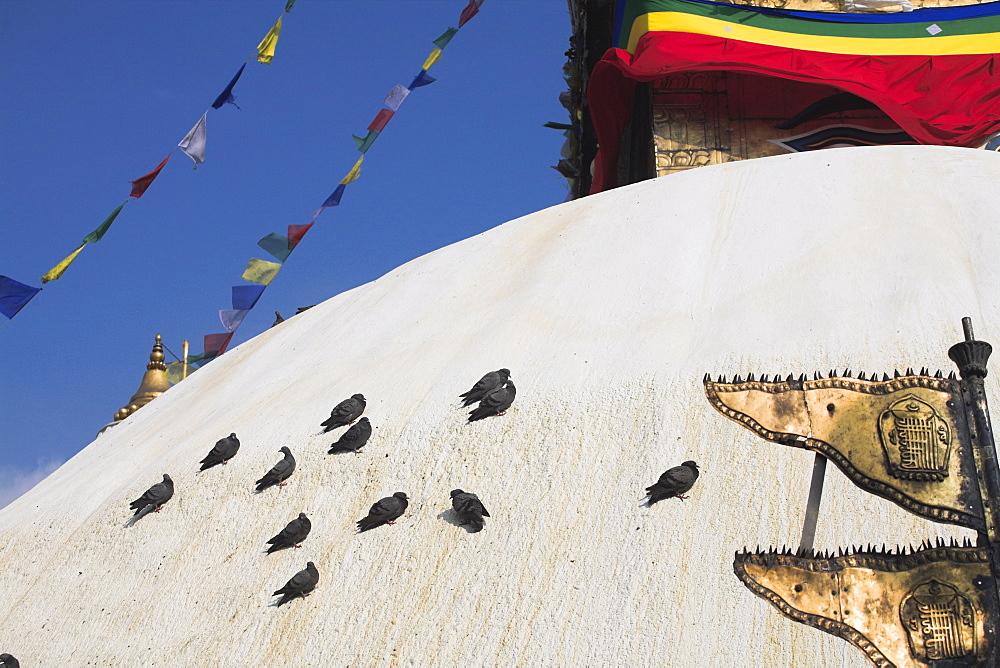 Swayambhunath Stupa (Monkey Temple), UNESCO World Heritage Site, Kathmandu, Nepal, Asia