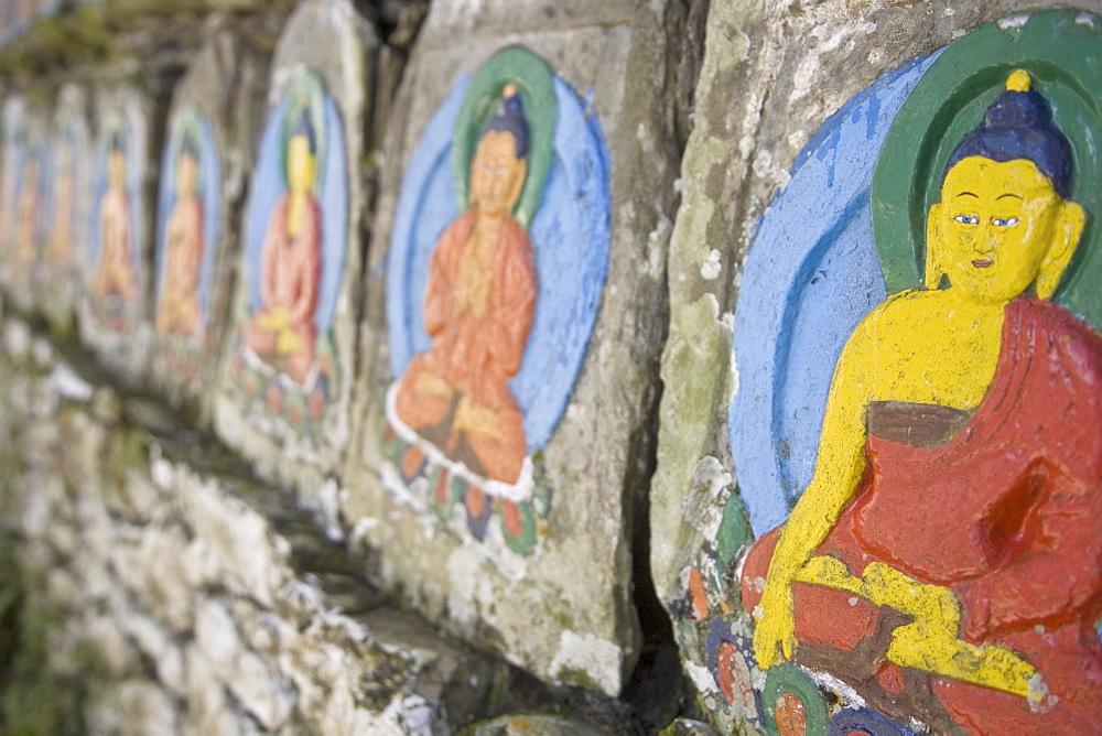 Ani Wall, Tashiding Gompa, Tashiding, Sikkim, India, Asia