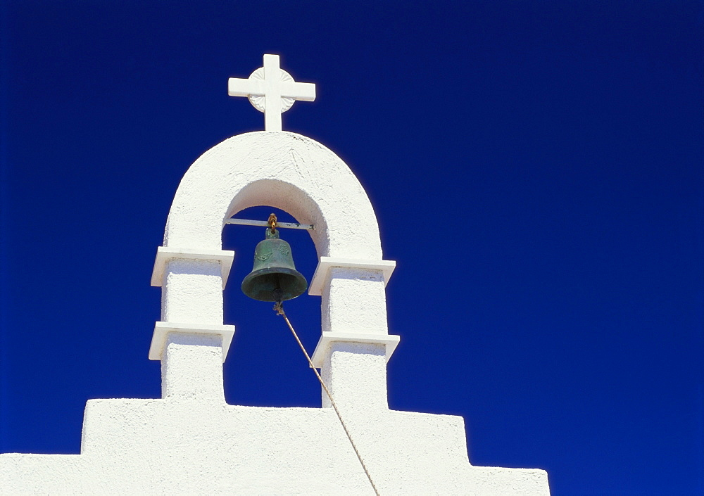 Top of Belltower, Mikonos, Cyclades, Greece