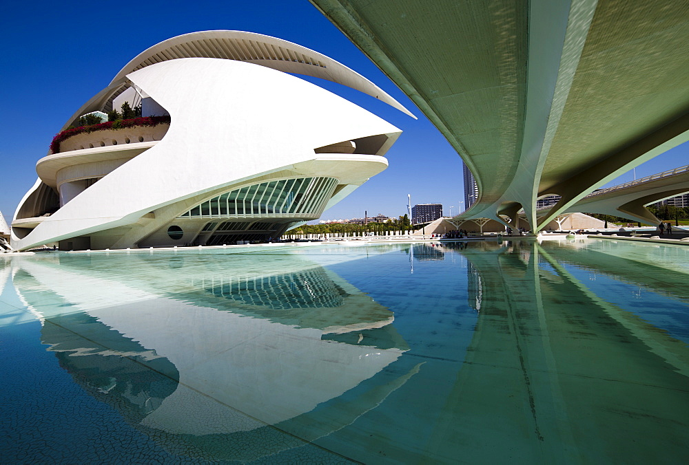 El Palau de les Arts Reina Sofia at the City of Arts and Sciences (Ciudad de las Artes y las Ciencias), Valencia, Spain, Europe