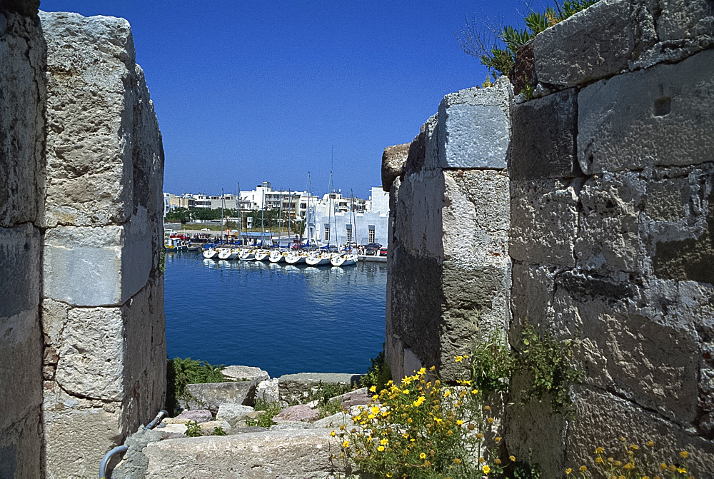 View from Knights Castle, Kos, Dodecanese, Greek Islands, Greece, Europe
