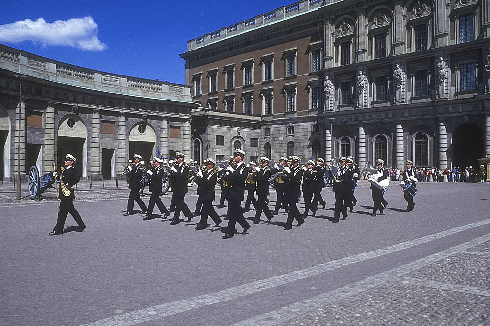 Changing the guard, Royal Palace, Stockholm, Sweden *** Local Caption ***