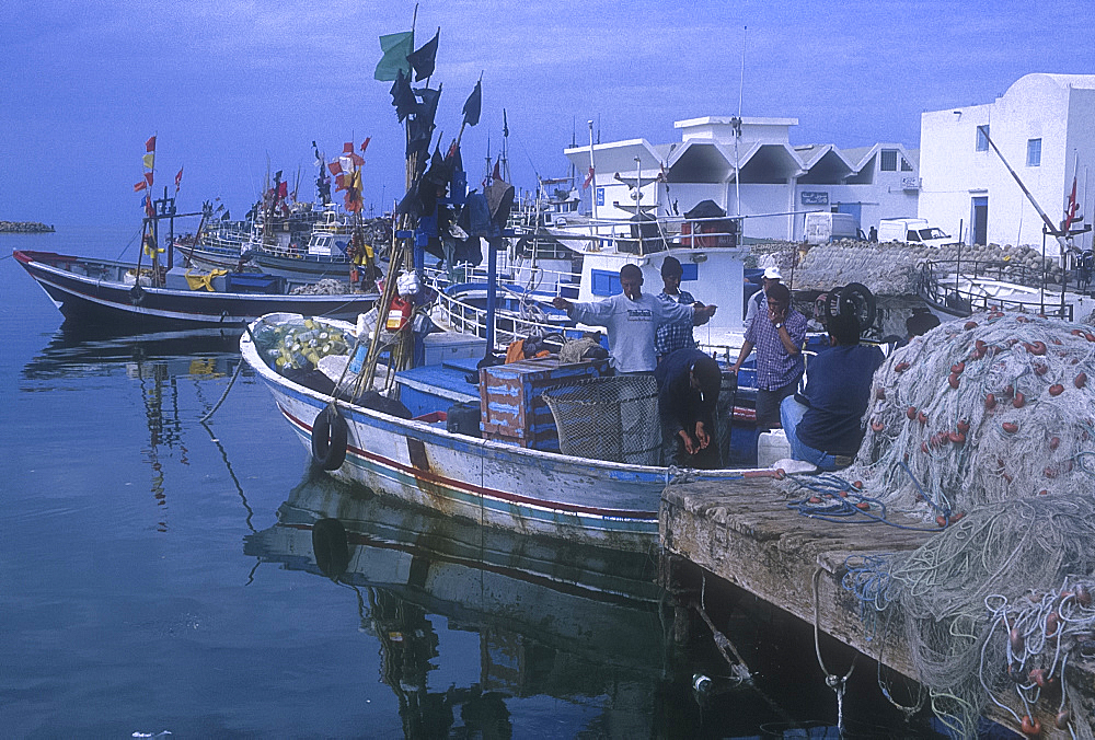 Fishing port, Houmt Souk, Djerba, Tunisia. *** Local Caption ***