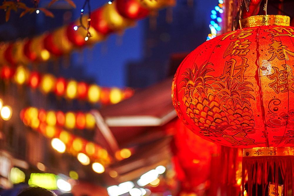 Lantern detail, Chinatown, Singapore, Southeast Asia, Asia - 358-584