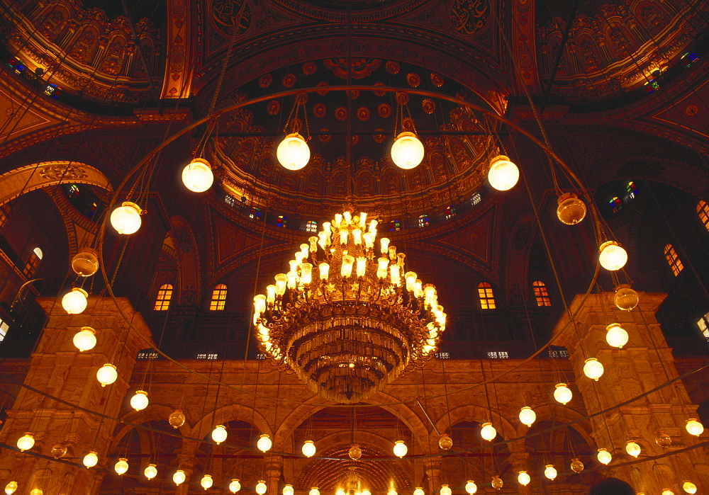 Inside the Blue Mosque, Istanbul, Turkey