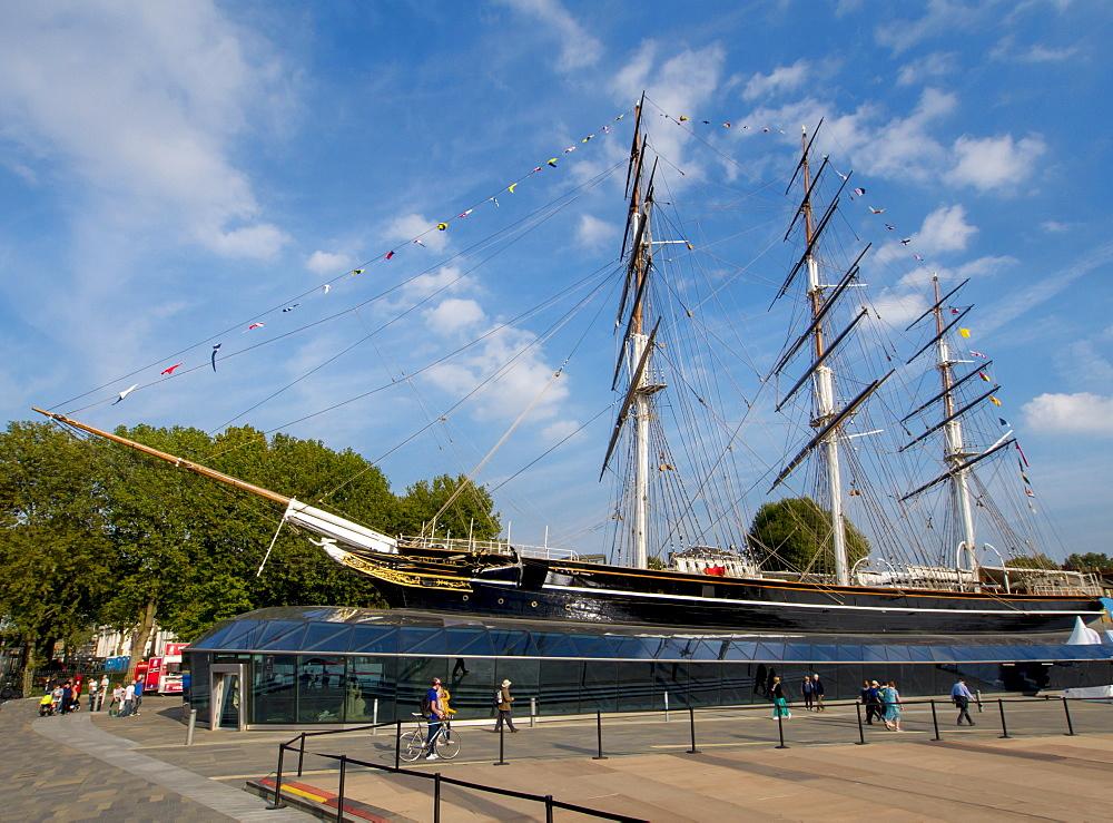 The renovated Cutty Sark, Greenwich, London, England, United Kingdom, Europe