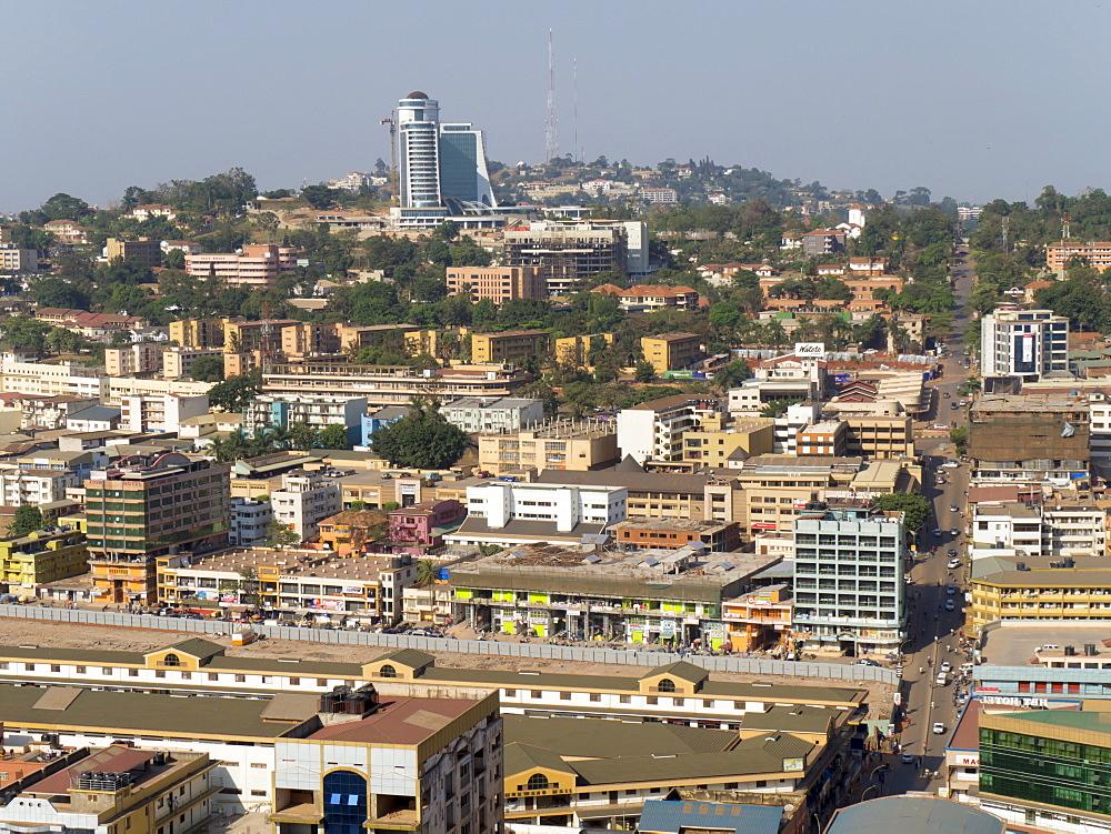 City skyline, Kampala, Uganda, Africa