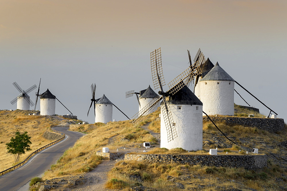 Don Quixote windmills, Consuegra, Castile-La Mancha, Spain, Europe - 367-6055