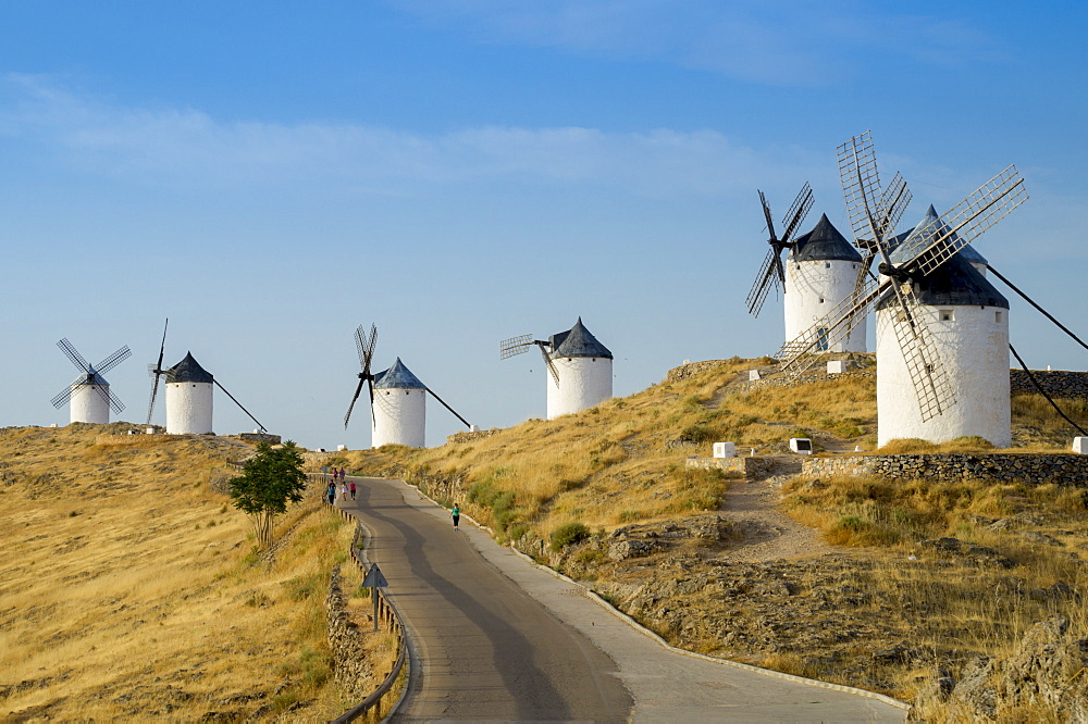 Don Quixote windmills, Consuegra, Castile-La Mancha, Spain, Europe - 367-6056