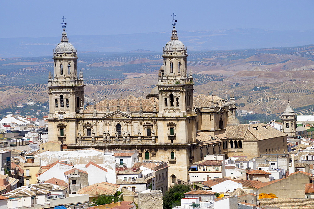 West face of the Cathedral, Jaen, Andalucia, Spain, Europe - 367-6057