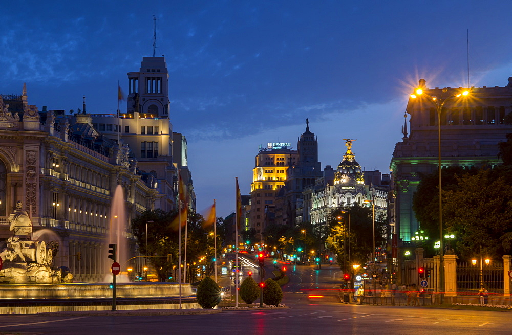 Calle de Alcala, Plaza de Cibeles, Madrid, Spain, Europe