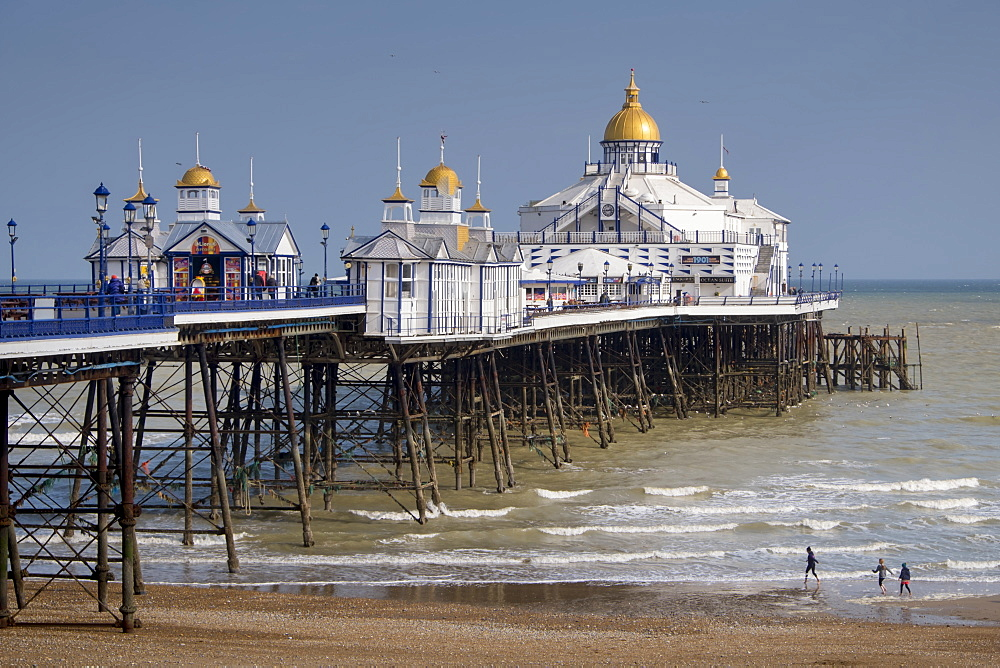 Seafront and pier, Eastbourne, East Sussex, England, United Kingdom, Europe
