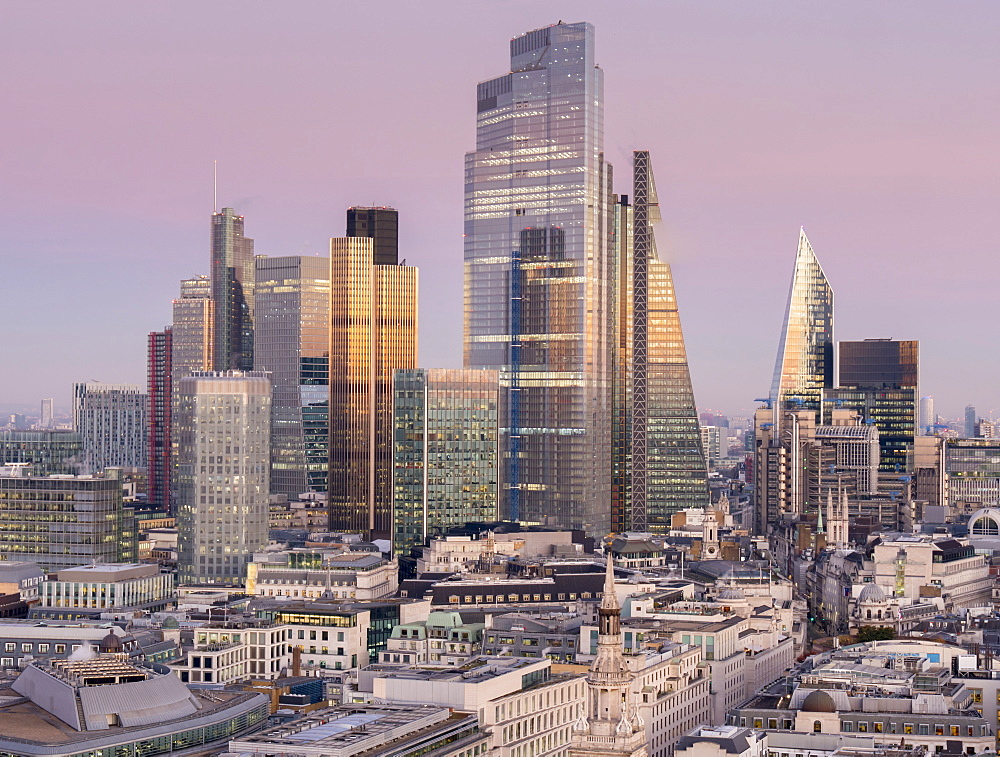 City of London, Square Mile, image shows completed 22 Bishopsgate tower, London, England, United Kingdom, Europe - 367-6280