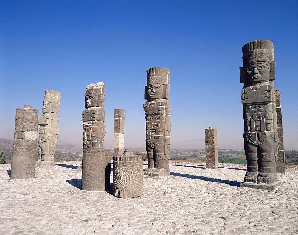 Toltec statues, Tula, Mexico, North America