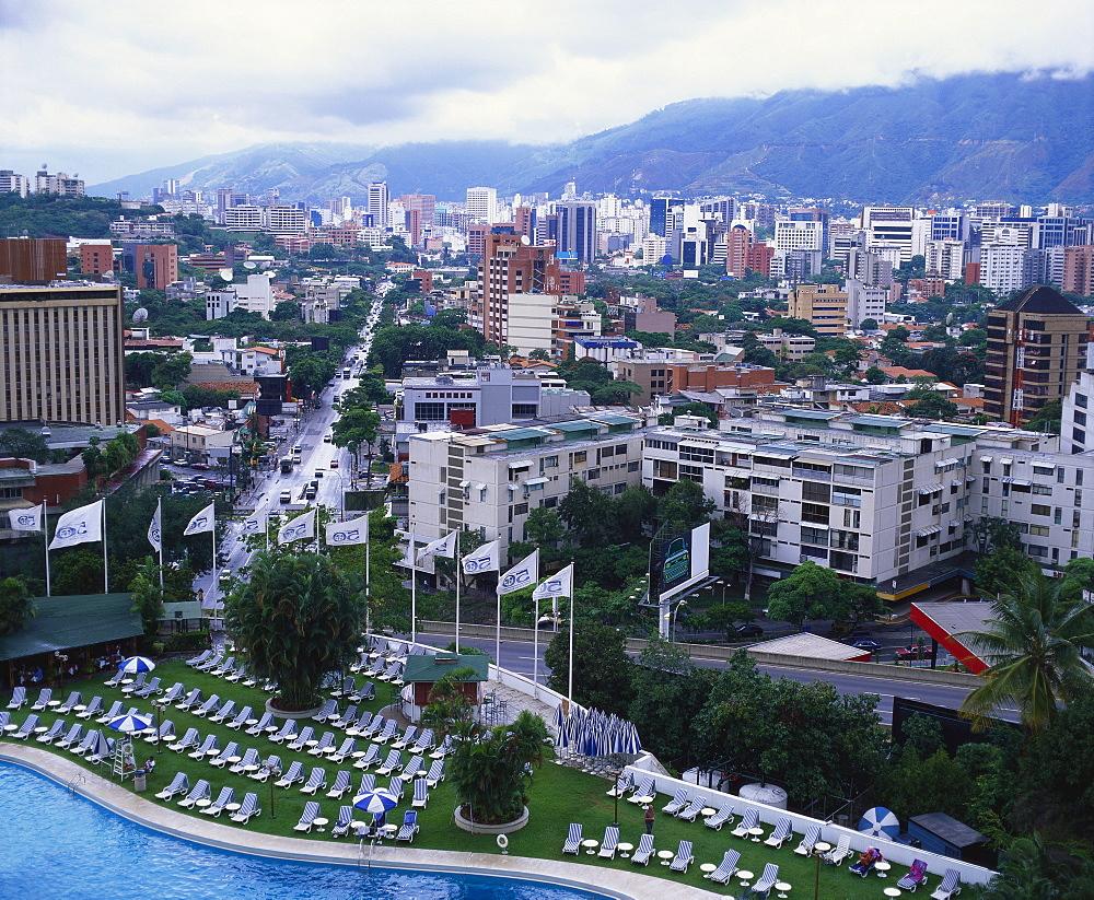 Aerial View of Las Mercedes, Caracas, Venezuela