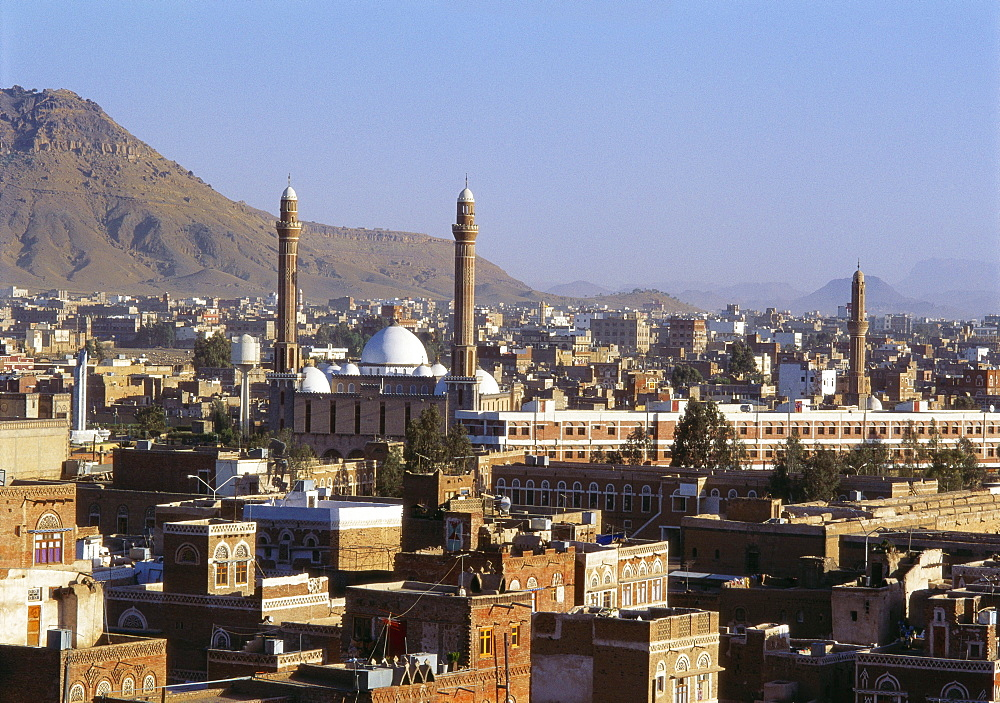Cityscape of Sanaa, Yemen, Middle East