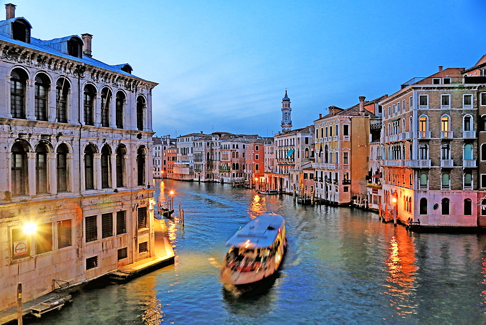 Canal Grande (Grand Canal), Venice, UNESCO World Heritage Site, Veneto, Italy, Europe