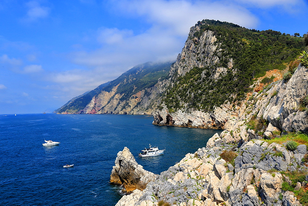 Coast near Portovenere, Liguria, Italy, Europe