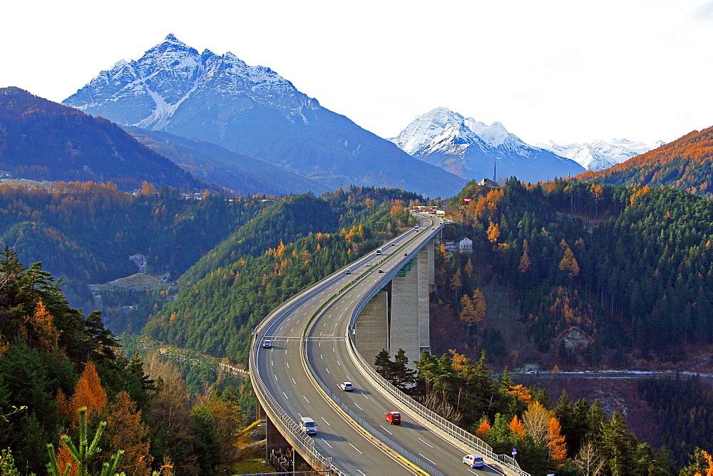Europabrucke, Brenner Highway, Tyrol, Austria, Europe