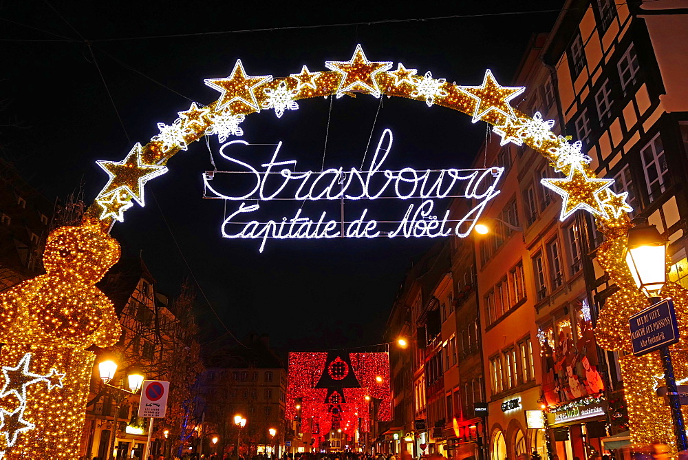 Decoration in christmas time, Strasbourg, Alsace, France - 396-5361