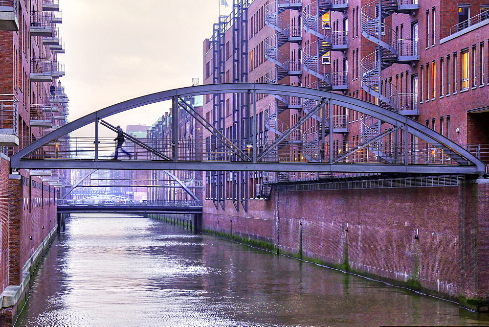 Speicherstadt district, Hamburg, Germany, Europe