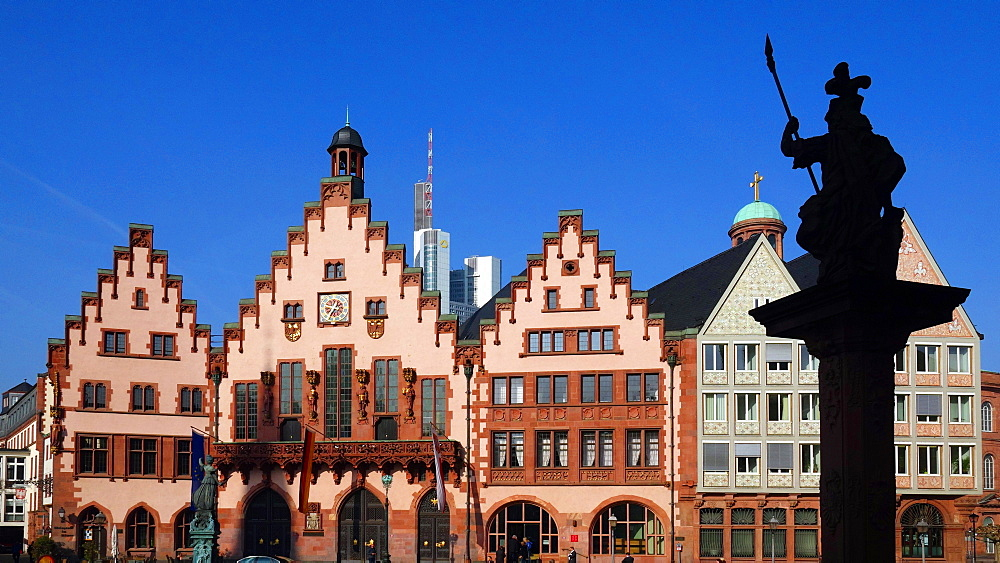 Town Hall Roemer, Frankfurt am Main, Hesse, Germany, Europe
