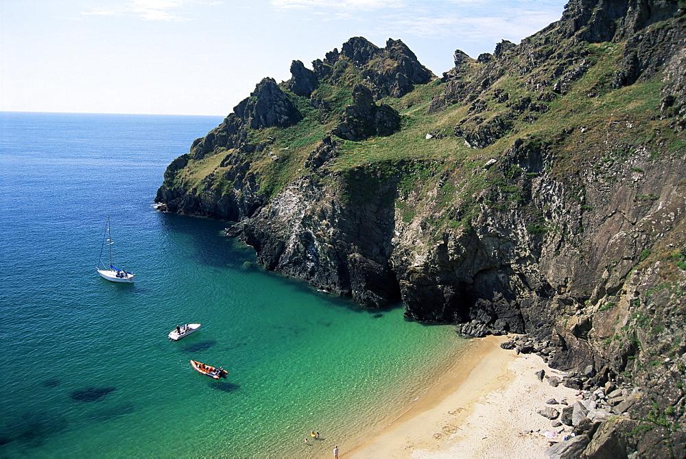 South coast near Prawle Point, Devon, England, United Kingdom, Europe