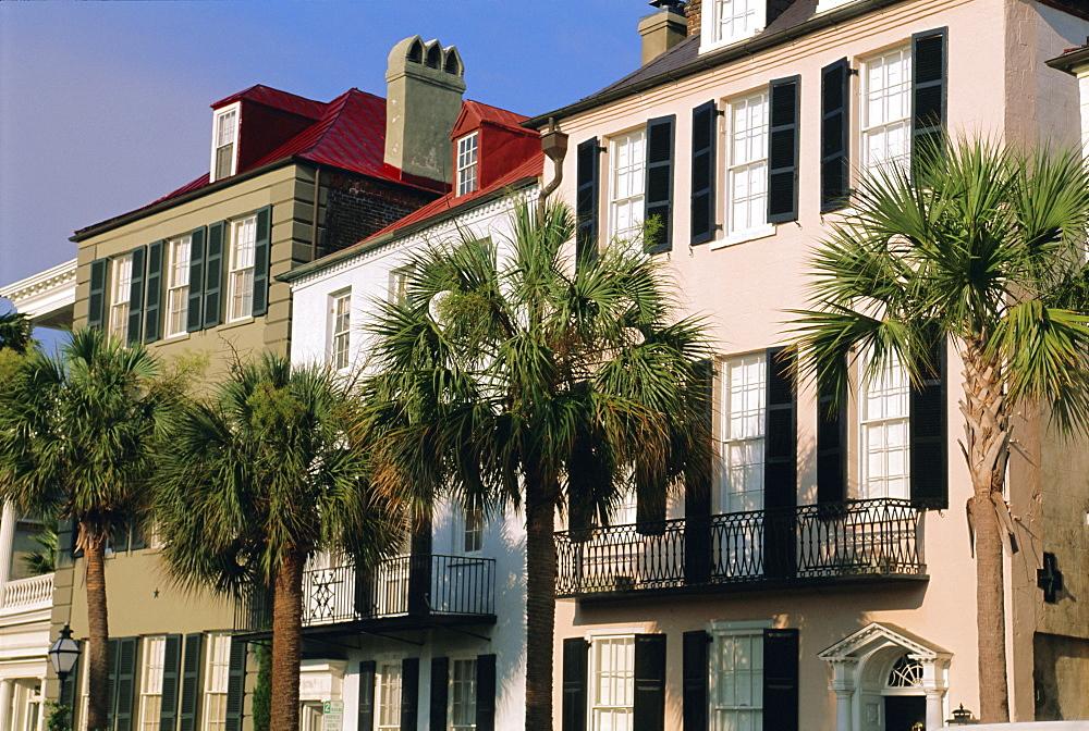 Early 19th century town houses, Charleston, South Carolina, USA, North America