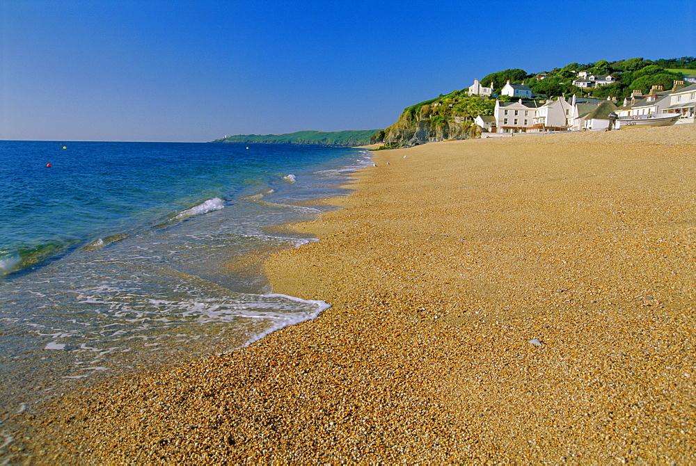 The village beach, Torcross, south Devon, England, UK
