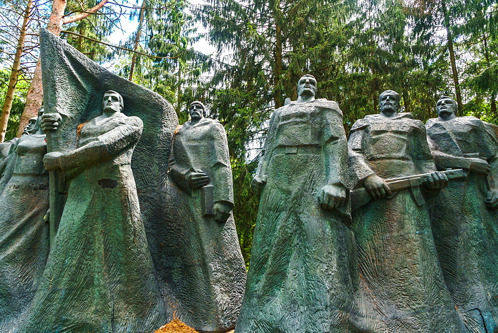 Monument to Soviet underground partisans, now banished since 1991 to a park near Vilnius, Grutas Park, Lithuania, Europe - 450-4295