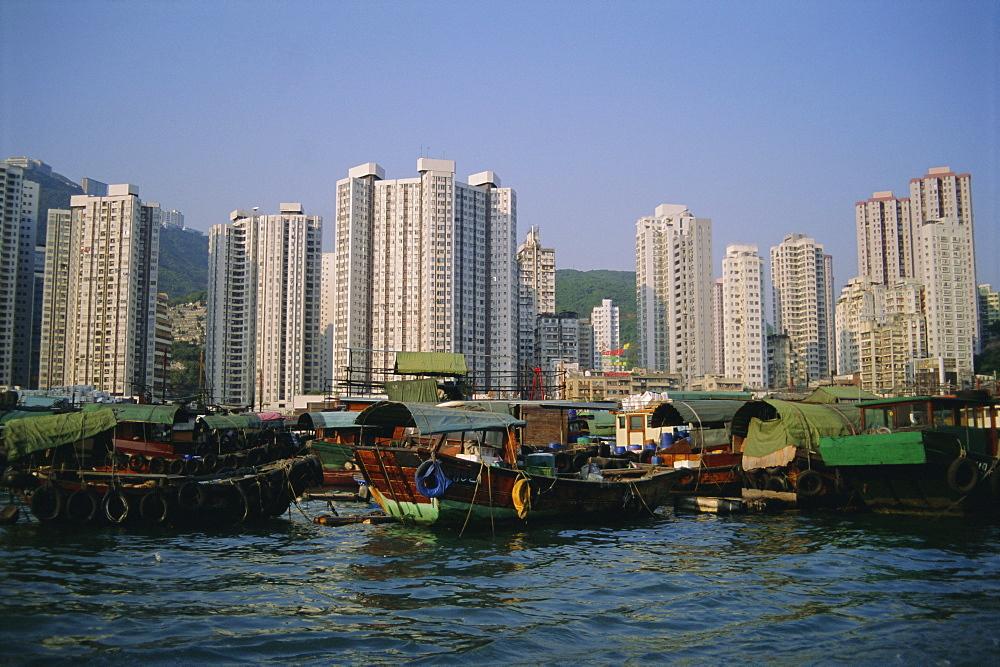 Aberdeen Harbour, Aberdeen, Hong Kong Island, Hong Kong, China, Asia