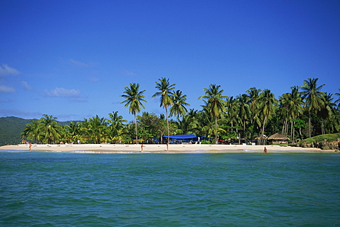 Tropical coastline of Cayo Levantado, Dominican Republic, West Indies, Caribbean, Central America