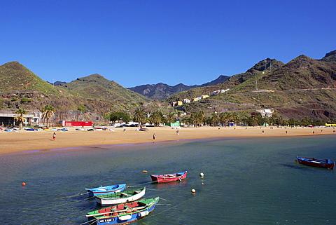 Beach, Las Teresitas, Tenerife, Canary Islands, Spain, Atlantic, Europe