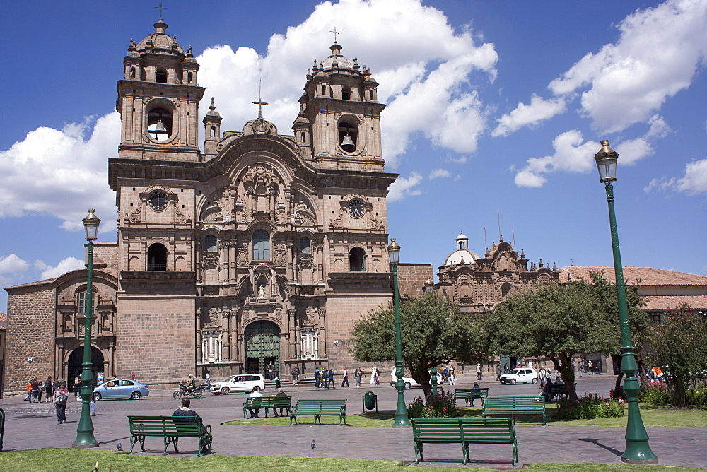 Company of Jesus Church, Plaza de Armas, Cuzco, Peru, South America