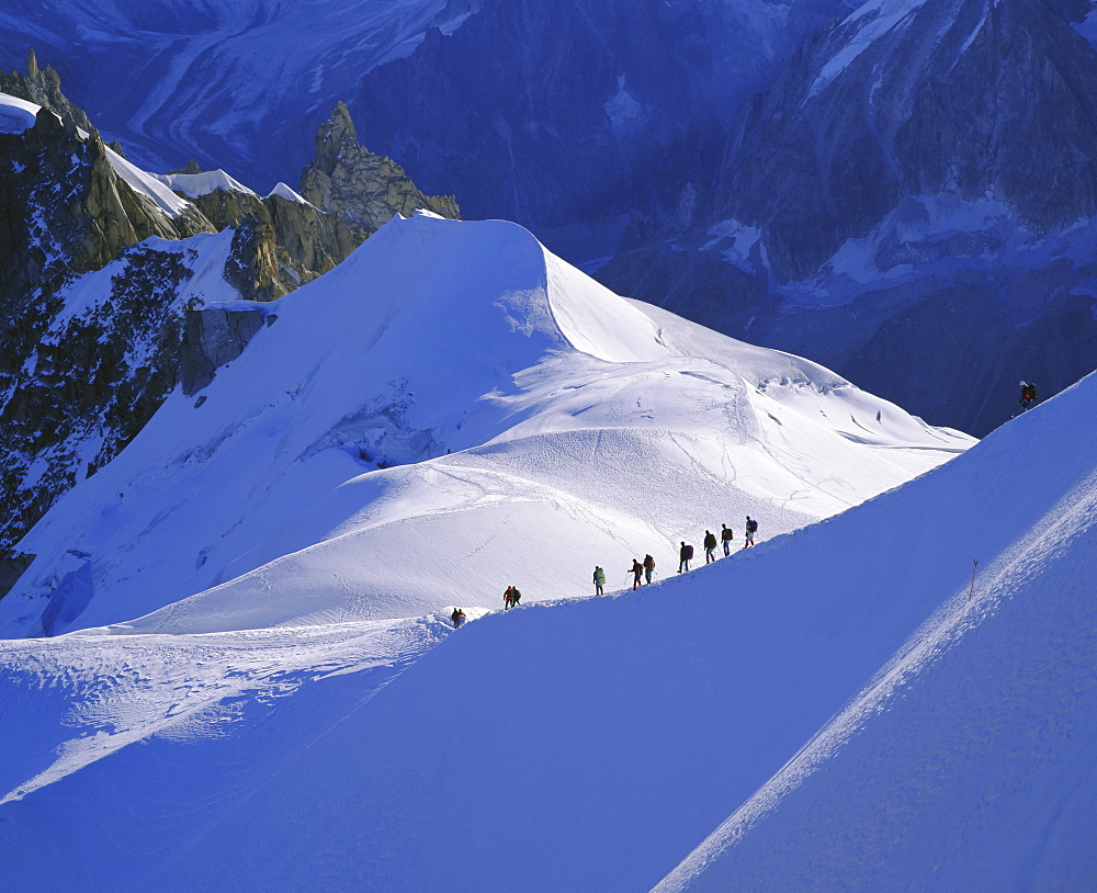 Mont Blanc range near Chamonix, French Alps, Haute-Savoie, France, Europe