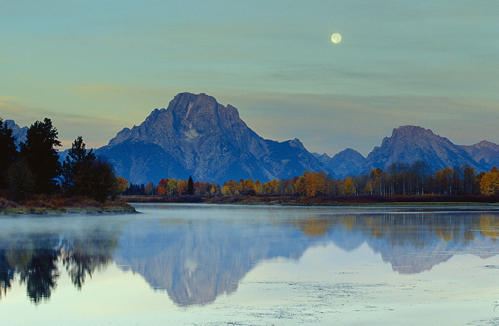 Oxbow Bend, Snake River and Tetons, Grand Tetons National park, Wyoming, USA *** Local Caption ***   - 485-9552