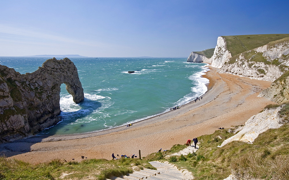 Durdle Door beach and cliffs, Dorset, England, United Kingdom, Europe