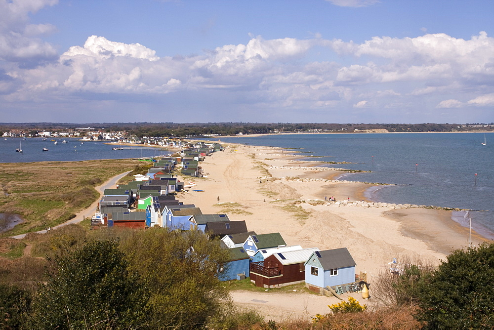 Mudeford Spit, a sandbank, Christchurch Harbour, Dorset, England, United Kingdom, Europe