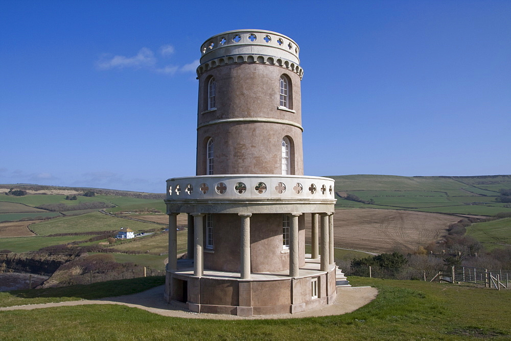 Clavel Tower, Kimmeridge, Dorset Coast, England, United Kingdom, Europe - 485-9657