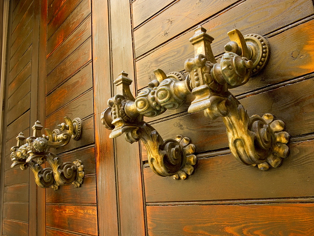 Door handles, Valletta, Malta, Europe