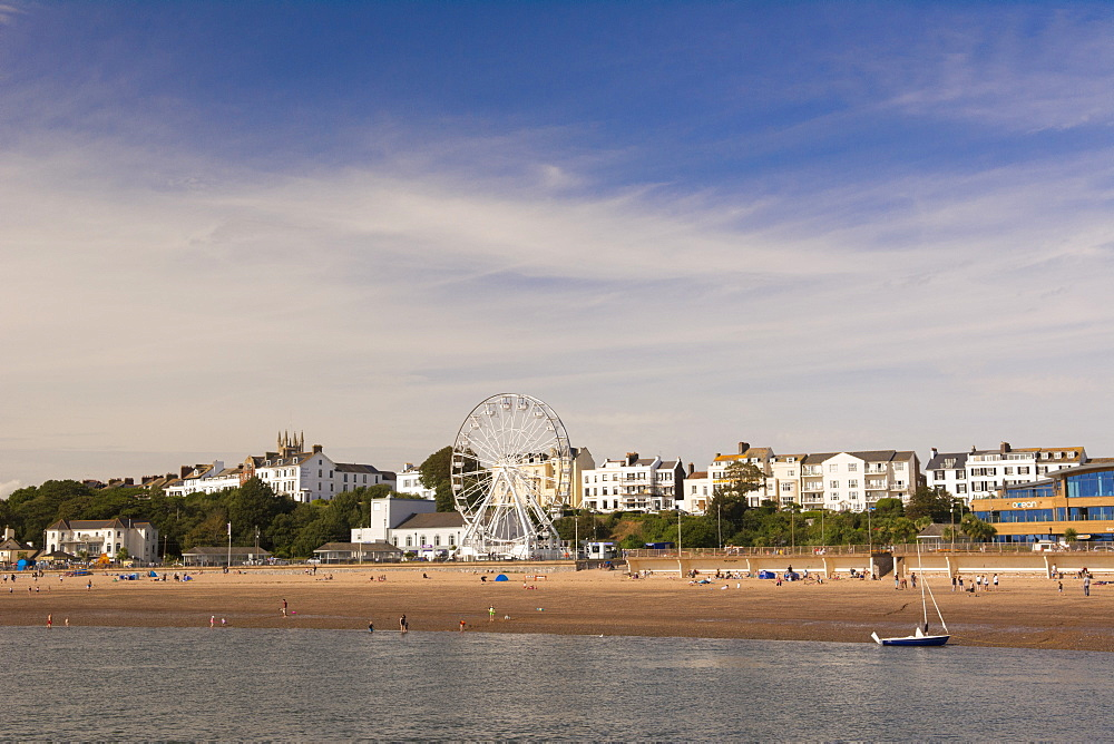 The beach and seafront, Exmouth, Devon, UK