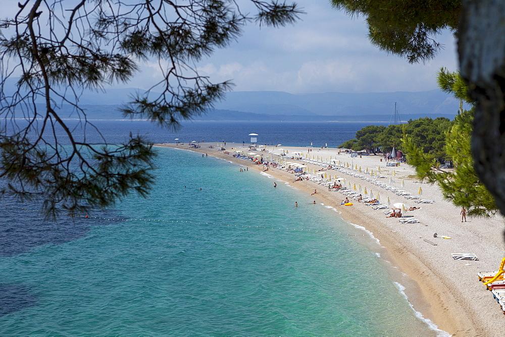 Bol, Ziatni Rat beach, Brac Island, Dalmatian Coast, Croatia, Europe  - 526-3792