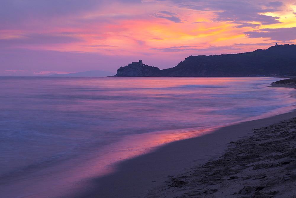 Castiglione della Pescaia, Roccamare Beach at sunset, Grosseto, Tuscany, Italy, Europe - 526-3802