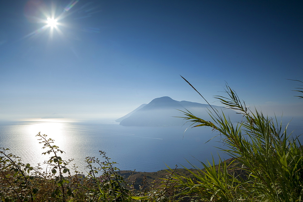 View of Salina from Lipari, Aeolian Islands, Italy, Mediterranean, Europe - 526-3841