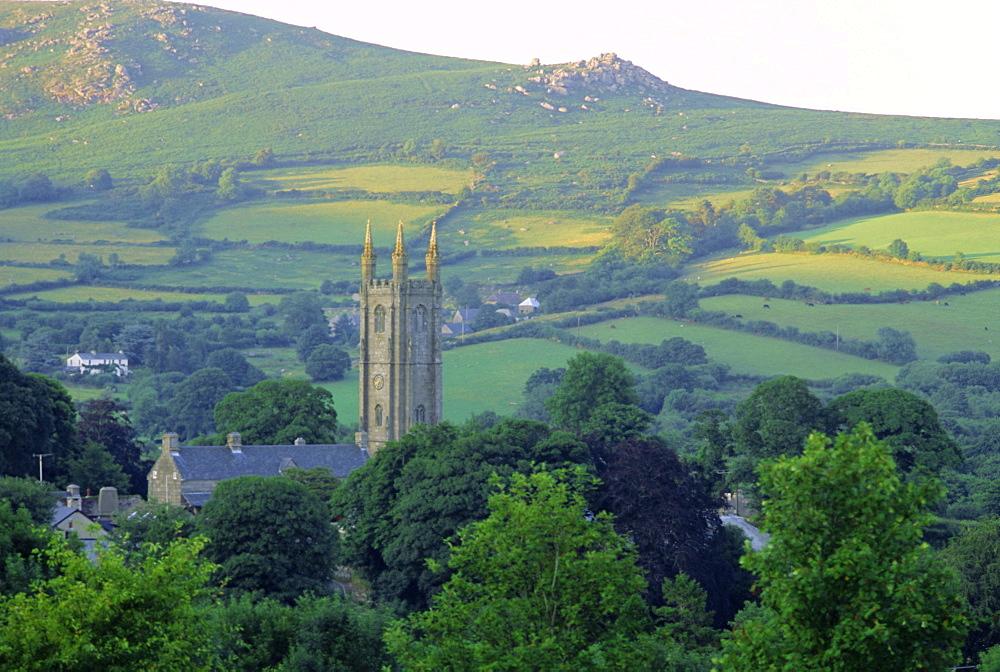 Widecombe in the Moor, Dartmoor, Devon, England, UK